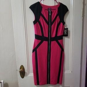 JAX black & pink dress size 4 NEW with tags